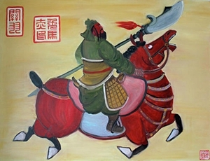 guan-yu-riding-red-hare-stephen-mcdonough