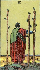 24. Three of Wands