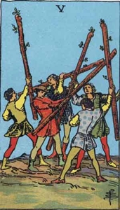26. Five of Wands