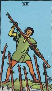 28. Seven of Wands