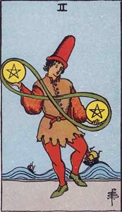37. Two of Pentacles