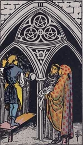 38. Three of Pentacles