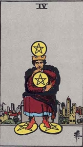 39. Four of Pentacles
