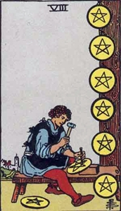 43. Eight of Pentacles