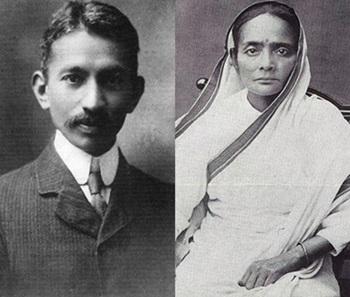 Gandhi&wife 1