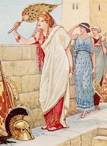 Helen in Troy by Walter crane